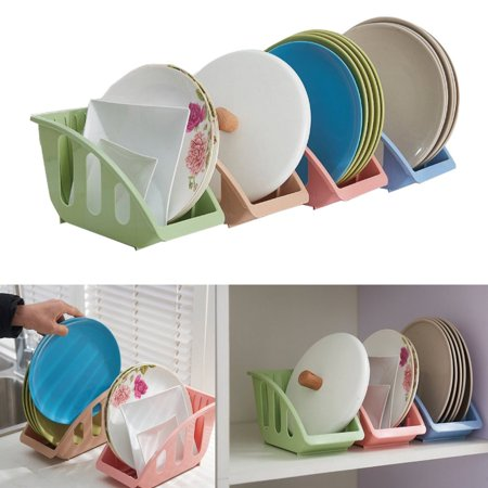 Plate Organizer - 1Pcs Plastic Dish Plate Drying Sink Rack Organizer Storage Holder Kitchen Shelf Kit