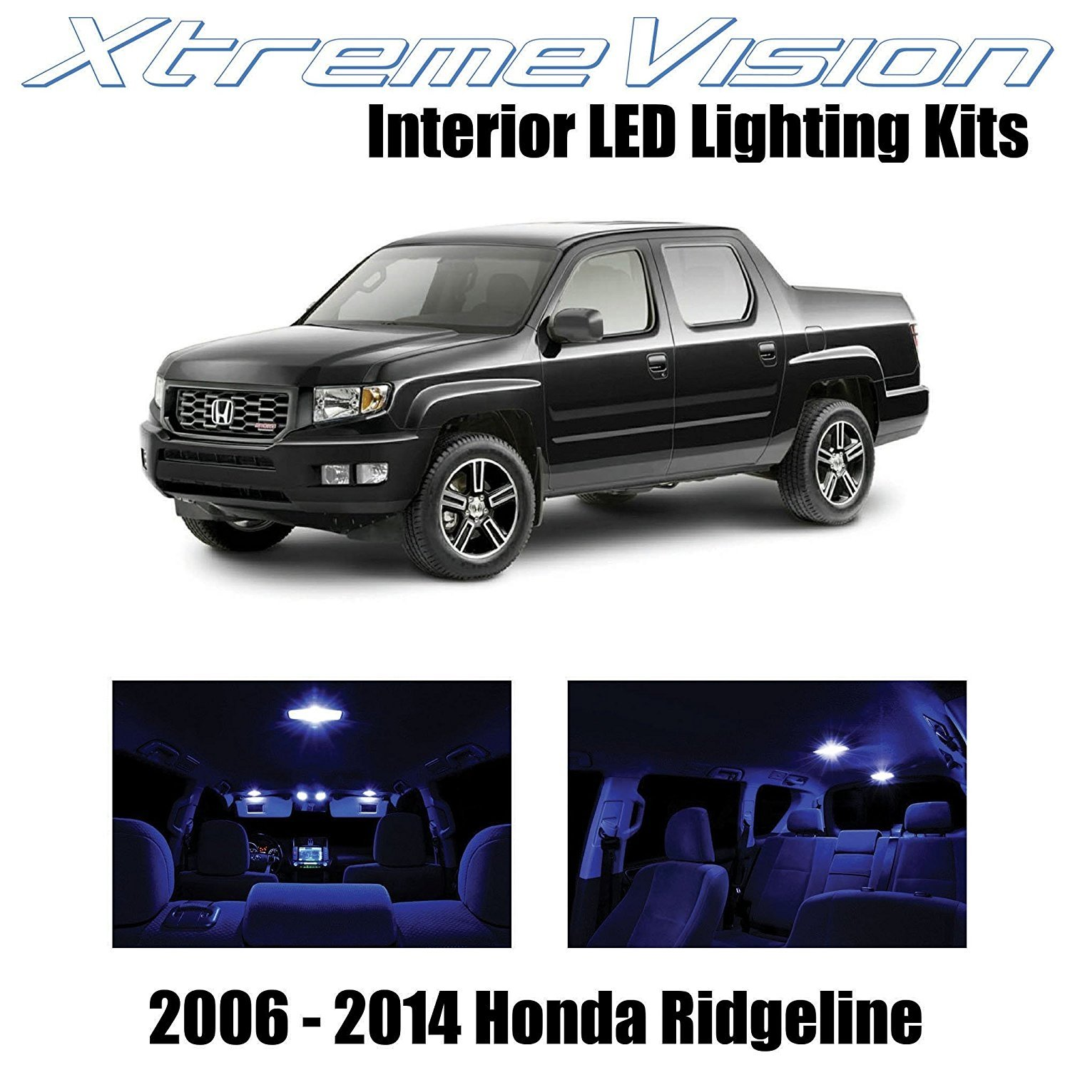 XtremeVision LED for Honda Ridgeline 2006-2014 (18 Pieces) Blue Premium Interior LED Kit Package + Installation Tool