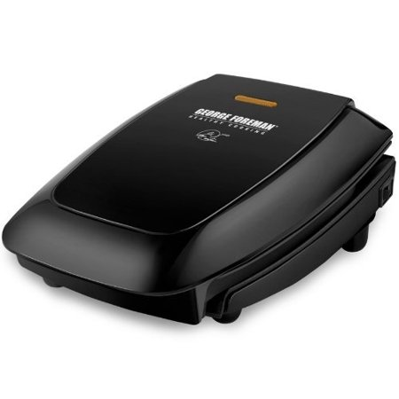 George Foreman 4 Serving Fixed Plate Grill Black