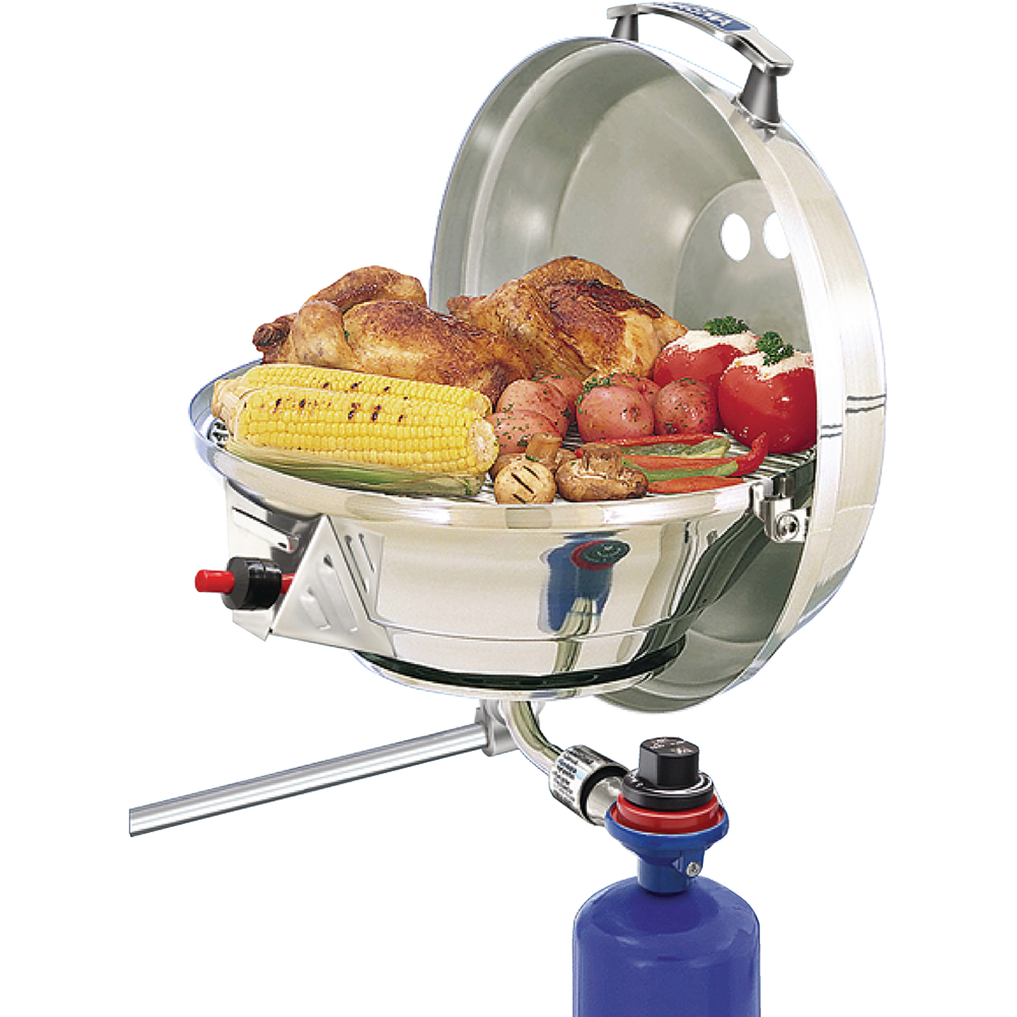 Magma Marine Stainless Steel Kettle 2 Stove and Gas Grill Combo
