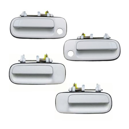 Brand New For 1992-1996 Toyota Camry White 040 Exterior Outer Door Handle Front and Rear Set 4PCS92 93 94 95 96 93 Truck Front Door