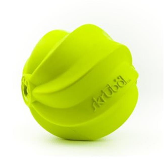 PetProjekt LGSKRBL11 Large Skrubal Rubber Dog Toy, Green