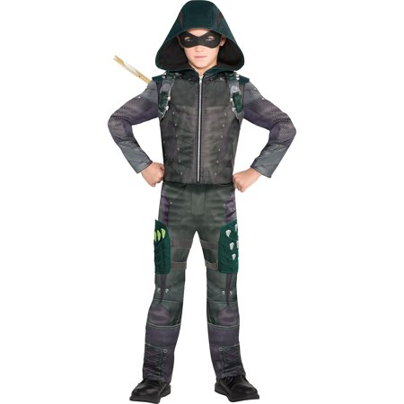 Suit Yourself Green Arrow Costume for Boys, Includes a Jumpsuit, a Mask, a Quiver, and 2 Thigh Holsters](Costume Arrow)