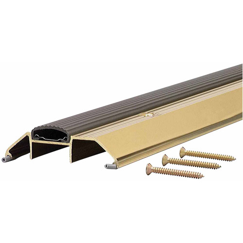 """M-D Products 09365 36"""" Bright Gold High Boy Thresholds with Vinyl Seal Aluminum"""