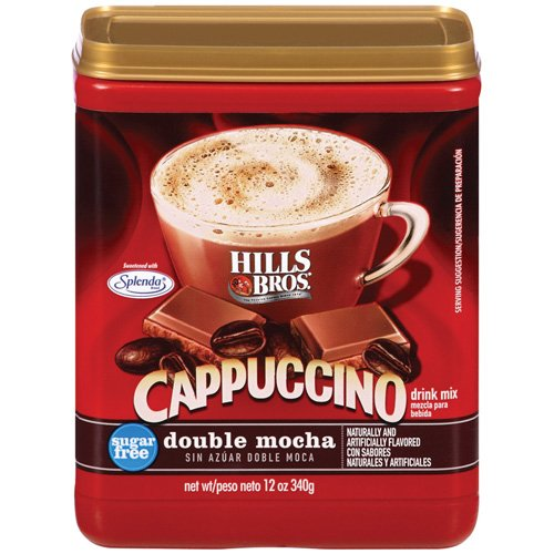 Hills Bros Sugar Free Double Mocha Cappuccino Beverage Mix, 12 oz