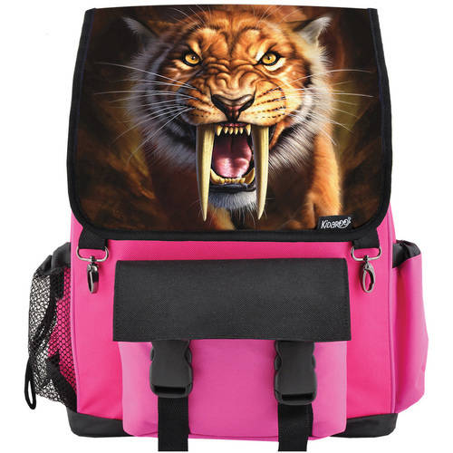 Kidaroo High Quality Saber Tooth Tiger School Backpack For Boys, Girls and Kids, Multiple Colors Available by Kidaroo