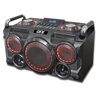 Qfx PBX265RD Portable Bluetooth Party Speaker System Red
