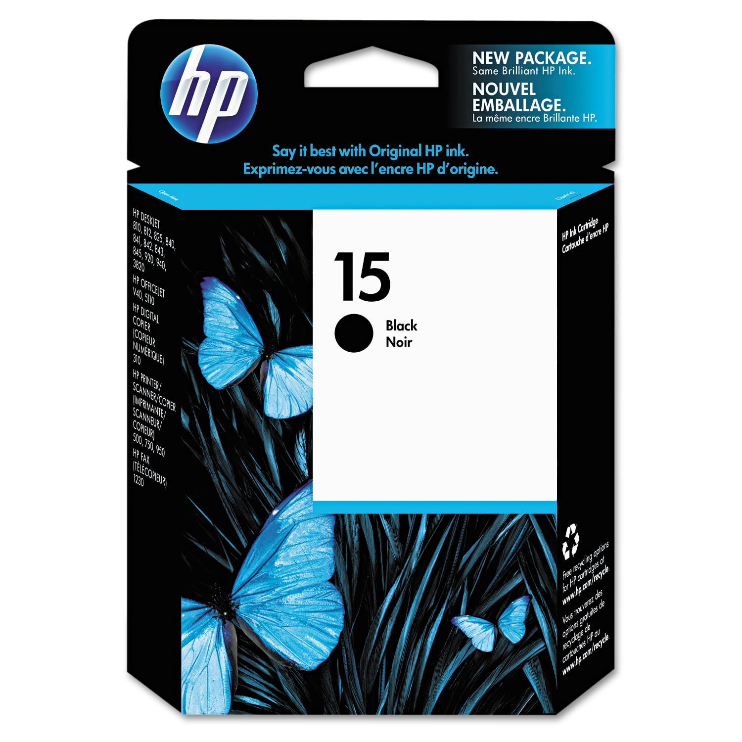 HP 15 Black Original Ink Cartridge (C6615DN) by HP
