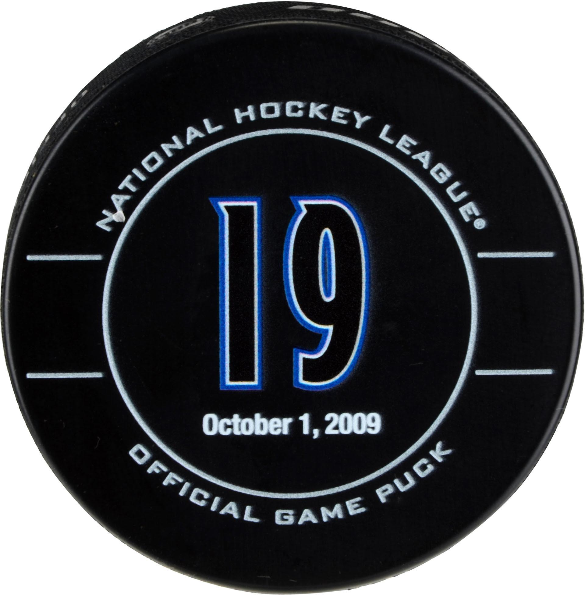 Joe Sakic Colorado Avalanche Unsigned October 1, 2009 Retirement Night Official Game Puck