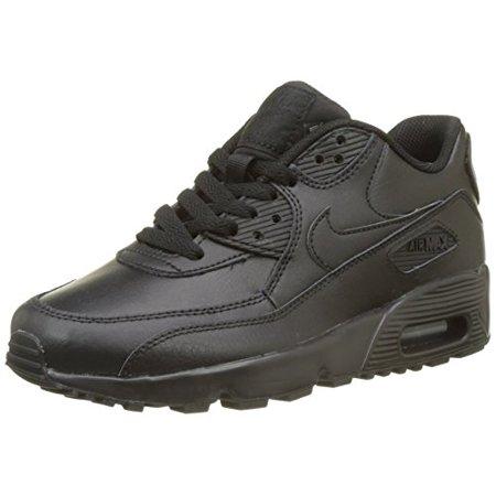 size 40 dee23 3e8ba Nike - Nike Air Max 90 LTR (GS) Black Black Big Kid s Running Shoes ...