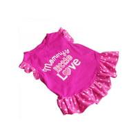 Lavaport Dog Cat Pet Princess Clothes Puppy Bow Vest T Shirt Dress Apparel