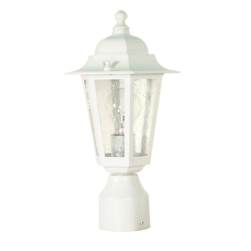 1 Light 14 in. Post Lantern Clear Seed Glass by Nuvo Lighting