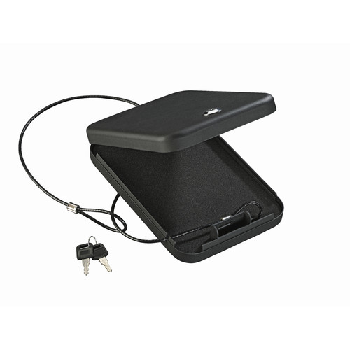 Stack-On Portable Case with Key Lock PC-95K Black