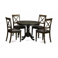 East West Furniture HLBO5-CAP-LC 5 Piece Kitchen Nook Dining Set-Kitchen Table and 4 Dinette Chairs