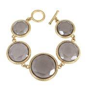 Kate Bissett B014720-V01 Organic Sparkling Gray Acrylic Bracelet