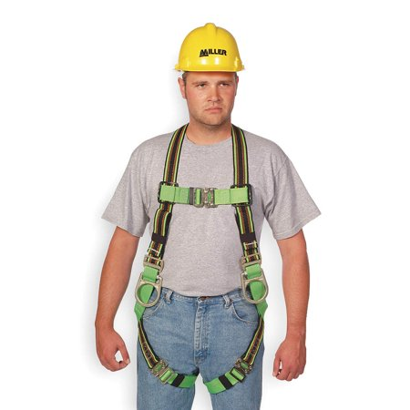 Miller by Honeywell Universal DuraFlex Ultra Full Body Style Harness With Back And Side D-Ring, Friction Shoulder Strap Buckle, Quick Connect Leg And Chest Strap Buckle, Comfort-Touch Back D-Ring
