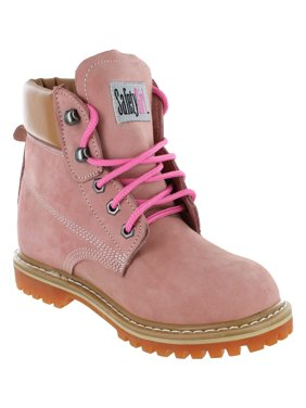 Safety Girl II Soft Toe Women's Work Boots - Light Pink - 5M