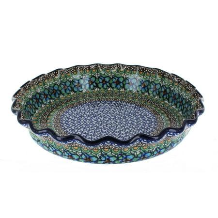 Polish Pottery Mardi Gras Pie Plate (Mardi Gras Plates)