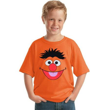 Sesame Street Ernie Face Youth T-Shirt (Sesame Street Ecards)
