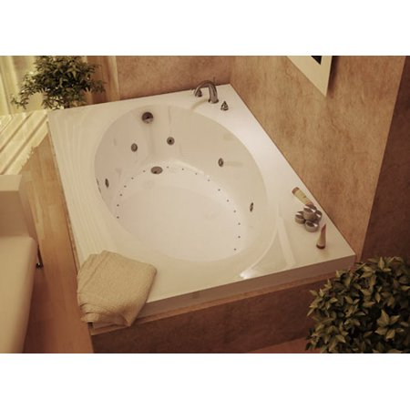 Atlantis Tubs 4384VDL Vogue 43 x 84 x 23 - Inch Rectangular Air & Whirlpool Jetted Bathtub w/ Left Side Pump Placement