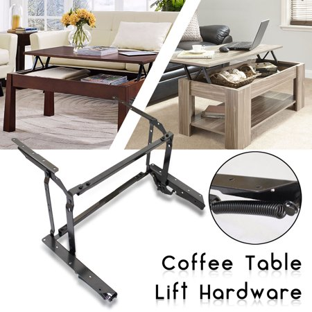 Lift Up Top Coffee Table Fitting Furniture Mechanism Spring Hinge Hardware Black