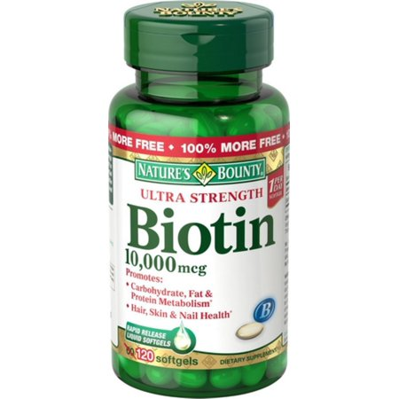 Biotin  Mcg Walmart Nature S Bounty  Softgels