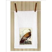 "Set of 3 Antique Audubon Wild Turkey Print White Flour Sack Kitchen Hand Towels 29"""