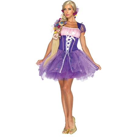 Rapunzel Women's Adult Halloween Costume (Halloween Costume Rapunzel)