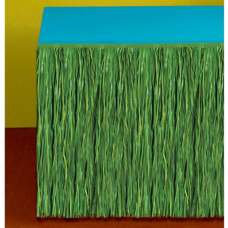 Green Grass Table Skirt (Table Grass Skirts)