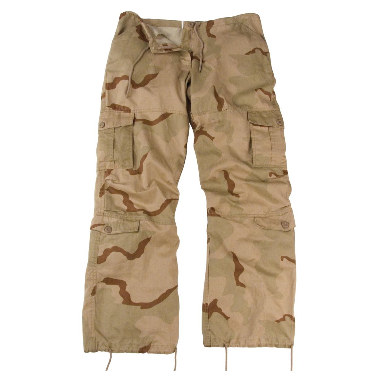 Rothco Women's Desert Camo Vintage Paratrooper Cargo Pants