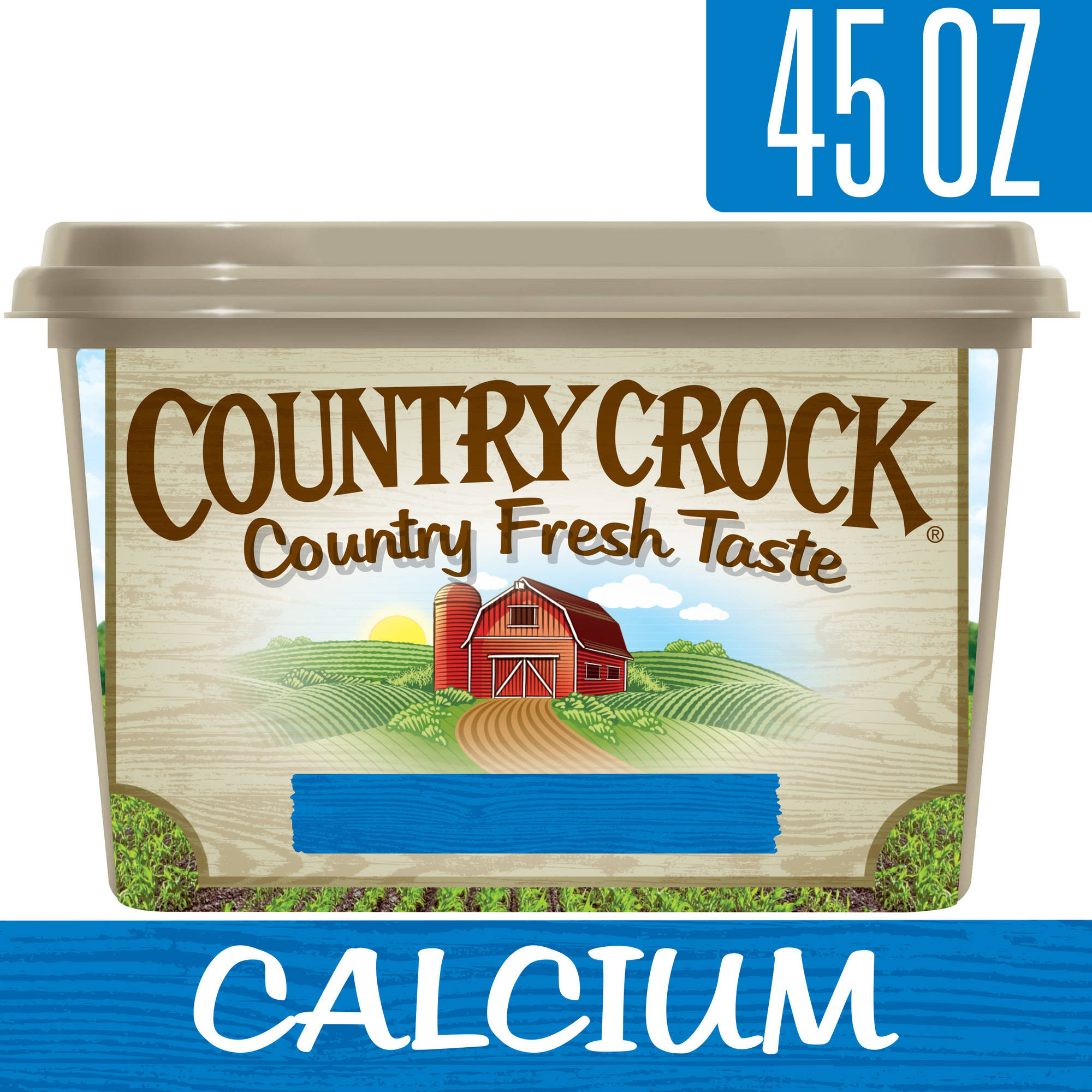 Country Crock Calcium Vegetable Oil Spread Tub, 45 oz