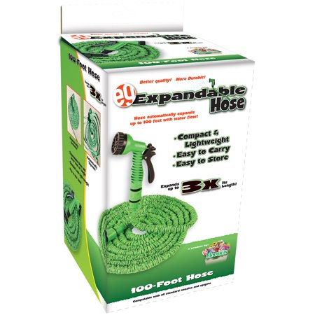 EMSCO Lightweight Expandable 100' Garden Hose w/ Spray Nozzle ()