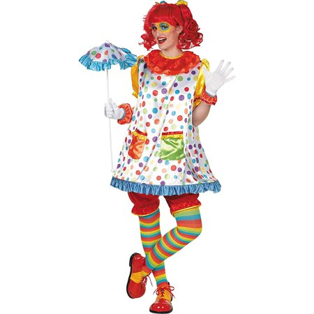 Clown Girl Costume - Adult Standard Size - Amscan