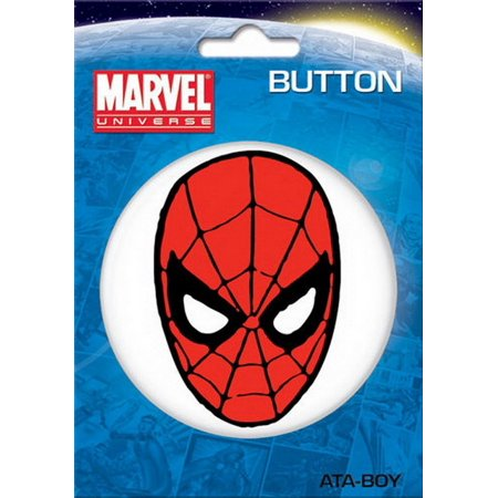 Marvel Comics Spider-Man Face 3-inch Button 97009