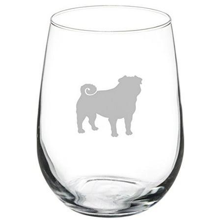 17 Oz Stemless Wine Glass Pug Dog Walmart Com Walmart Com