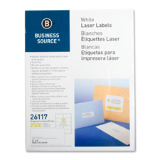 "Mailing Labels, Shipping, Laser, 2""x4"", 1000/PK, White, Sold as 1 Package, 3500 Each per Package"