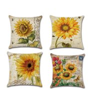 Sunflower Decor Throw Pillow Covers for Couch, Square Cushion Cover Pillowslip Cushion Protector for Sofa Home Decorative
