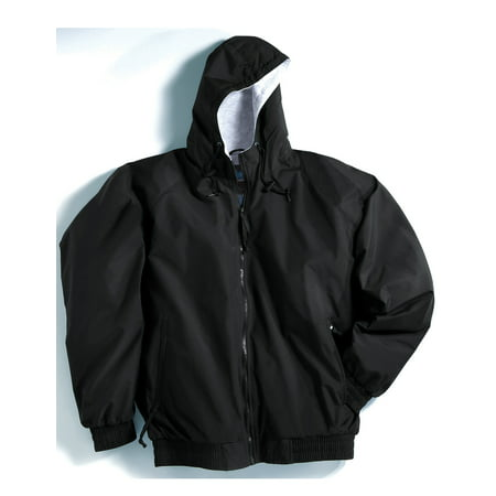 Tri-Mountain Bay Watch 3600 Nylon hooded jacket, 2X-Large, Black