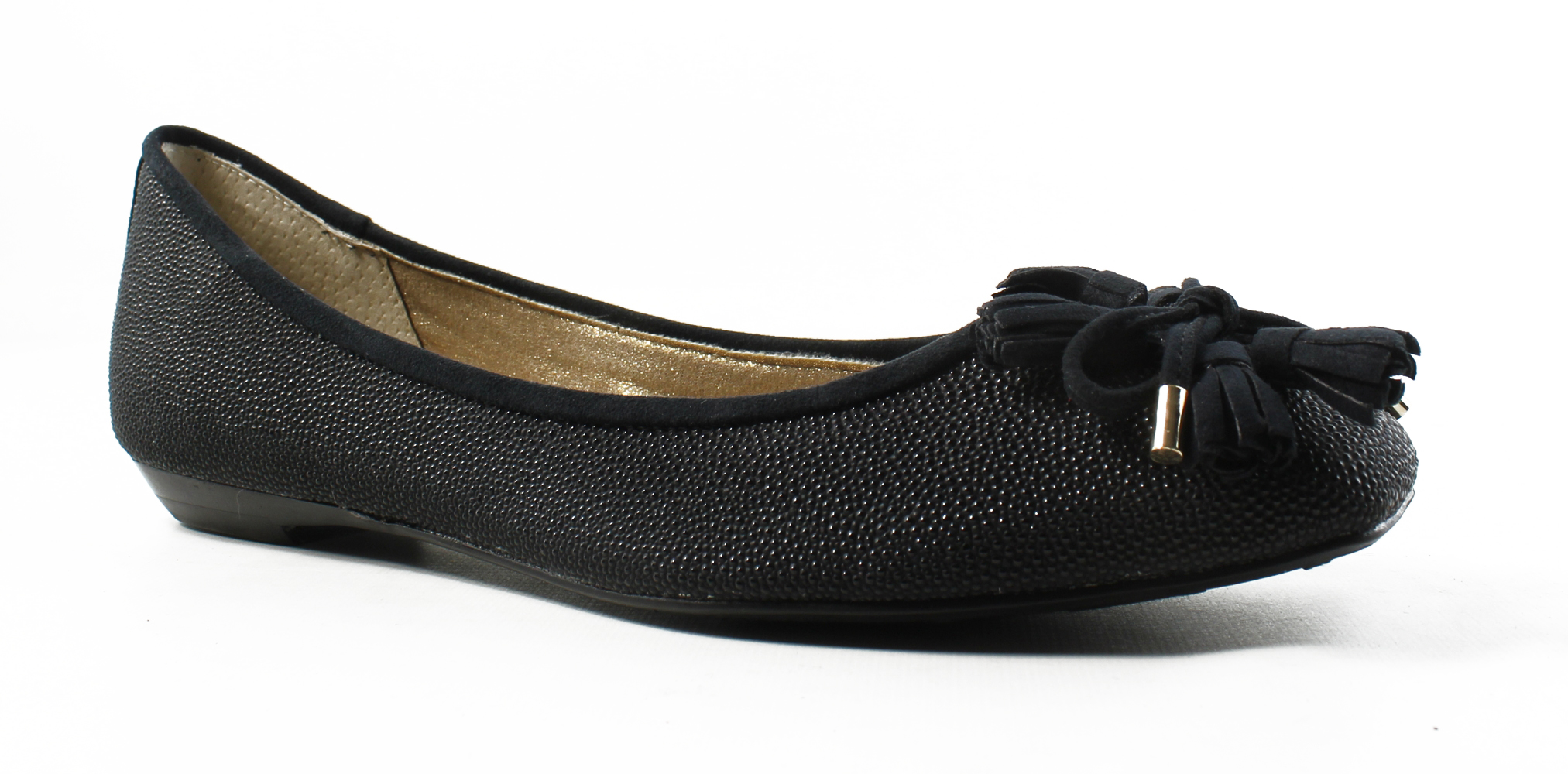 J. Renee Womens Black Ballet Flats Size 7.5 New by J. Renee