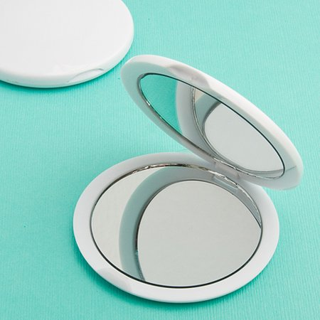 Left Hand Plain Mirror (Perfectly Plain Collection Mirror Compact Favors )