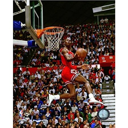 Michael Jordan 1987 Slam Dunk Contest Action Glossy Photograph Photo Print, Size - 8 x 10 By Photo File,USA