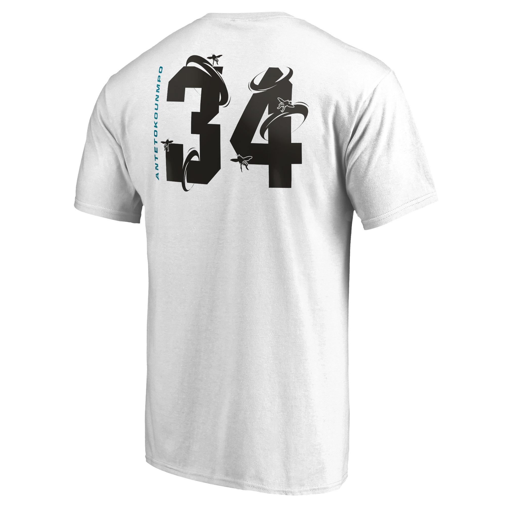 save off abdd0 efa14 Giannis Antetokounmpo Milwaukee Bucks Fanatics Branded 2019 NBA All-Star  Game The Buzz Side Sweep Name & Number T-Shirt - White