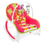 Fisher-Price Infant-To-Toddler Rocker - Soothing Baby Seat with Removable Bar, Floral Confetti
