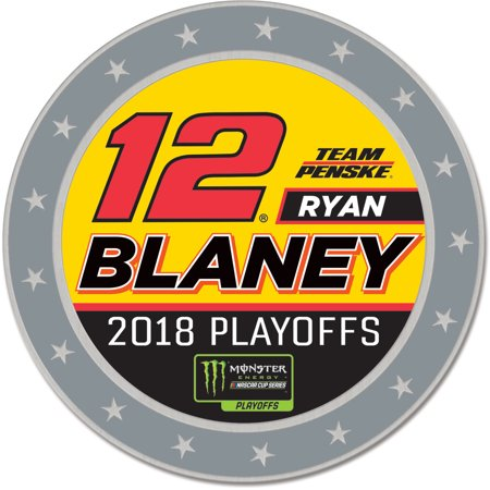 "Ryan Blaney WinCraft 2018 NASCAR Chase For The Monster Energy Cup Qualifying Drive 1.25"" x 1.25"" Playoffs Collector Pin - No Size"