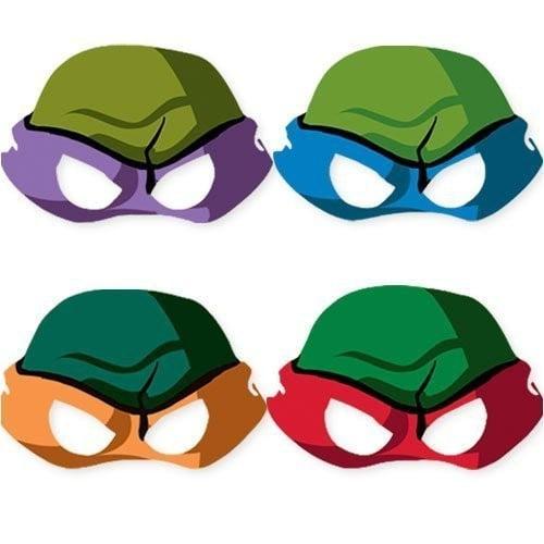 Teenage Mutant Ninja Turtles Vintage Paper Masks (8ct)