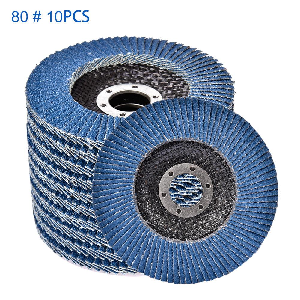 "10pc 4.5/"" x 7//8 Grinding Sanding 80 Grit Flat Disc for DeWalt Makita Bosch"