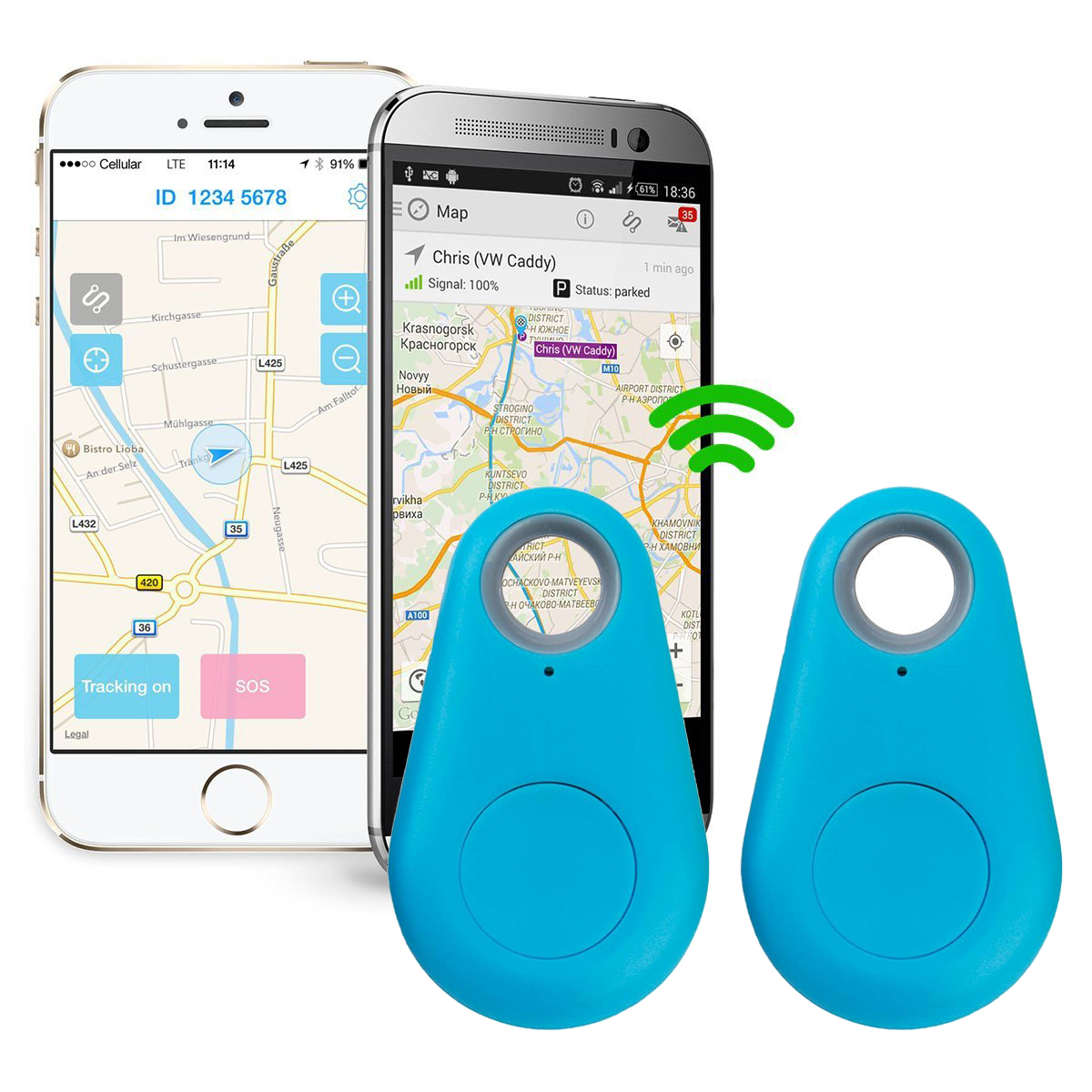 Spy Mini GPS Smart Tracking Finder Auto Car Pets Kids Tracker Alarm Key Track Device Green