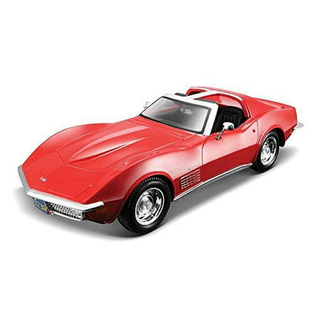 Red Corvette Model Car (NEW 1:24 DISPLAY MAISTO SPECIAL EDITION - CANDY RED 1970 CHEVROLET CORVETTE STINGRAY Diecast Model Car By Maisto )