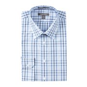 Nordstrom NEW Blue Plaid Mens 14 1/2 Non-Iron Traditional Fit Shirt