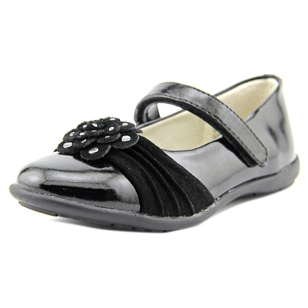 Balleto by Jumping Jacks Megan Toddler  Round Toe Synthetic Black Mary Janes